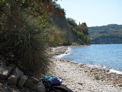 The nude end of Strunjan Park
