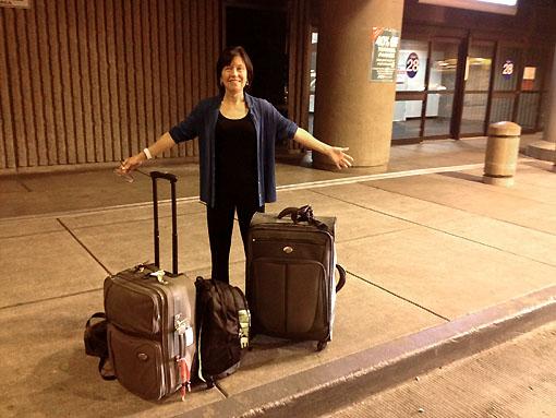 Ready to go outside Sky Harbor Terminal 4