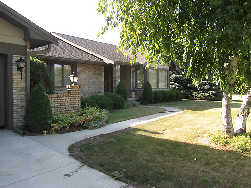 Janet and Eric's home in Lincoln
