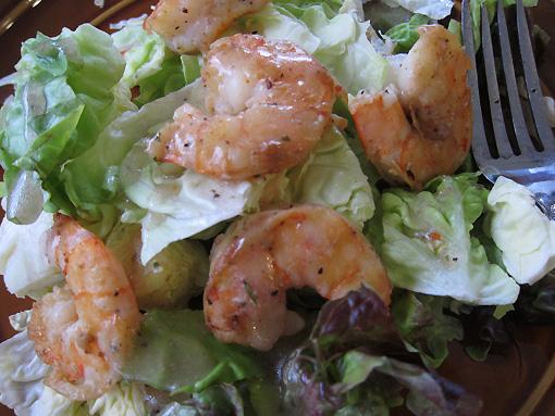 Shrimp salad for me