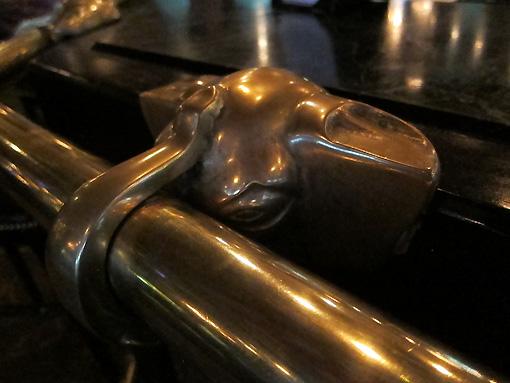 Brass elephant railing holders