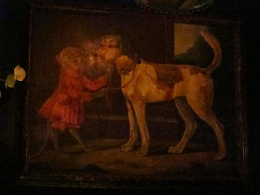 My favorite painting in the Leopard Lounge