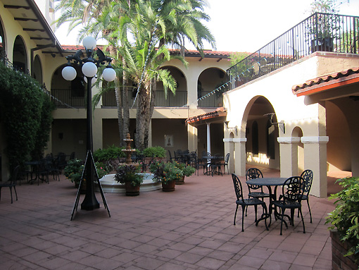 One of the many courtyards
