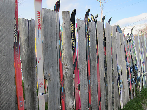 Only in Jackson would you find a fence made of skis