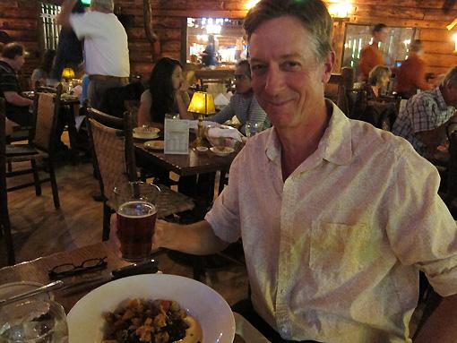 Rich enjoys his Bison stew