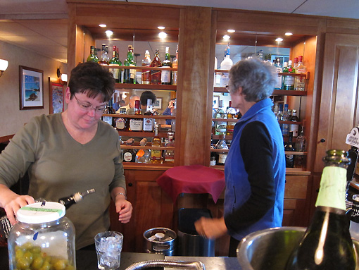 Janet plays bartender for Ginny