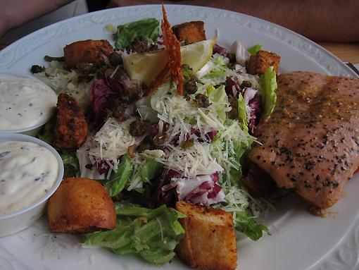 Salmon/Caesar Salad