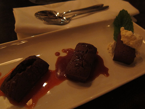 Chocolate Financiers for dessert