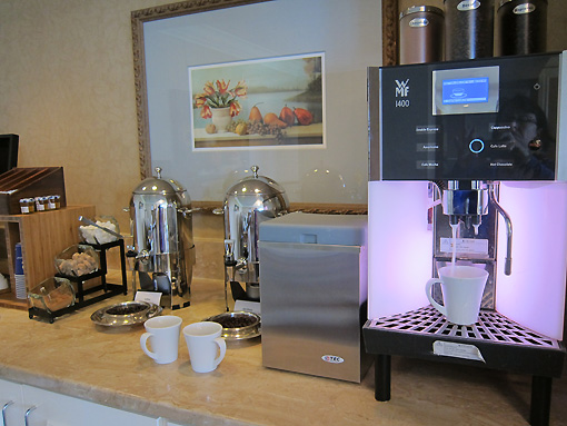 I love the coffee station - look out Starbucks