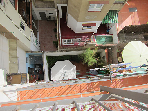 View looking down from my terrace