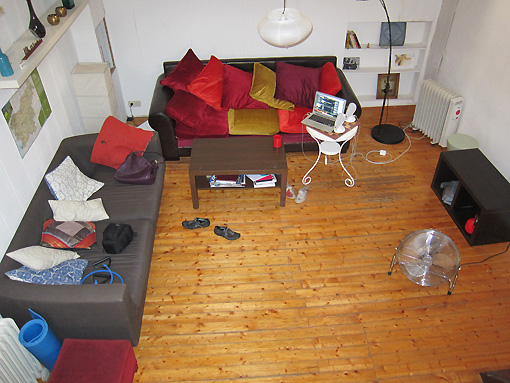 Living area (looking down from loft)