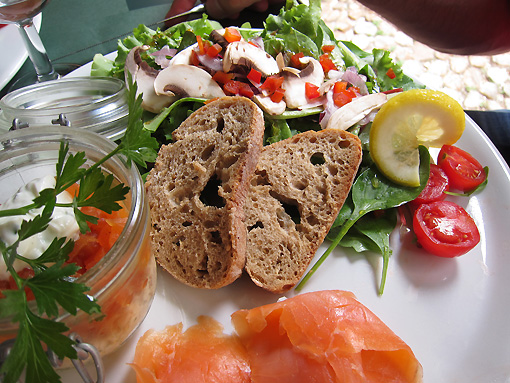 Smoked salmon and accoutrements