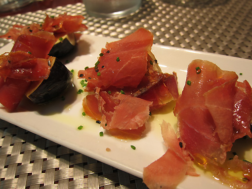 figs, jamon and olive oil