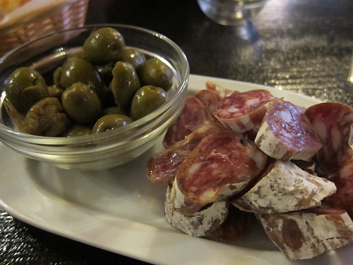 Fuet and Olives