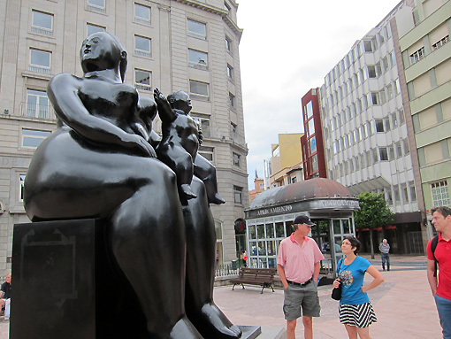 """My personal favorite - a bronze by Botero """"Maternidad"""""""