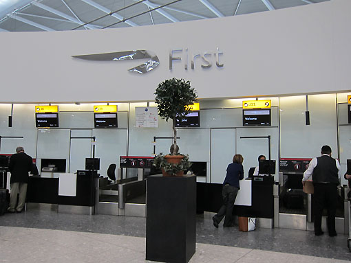 Dedicated First Class check-in lounge.  Now this is the way it should always be!