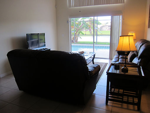 Family room with view out to lake