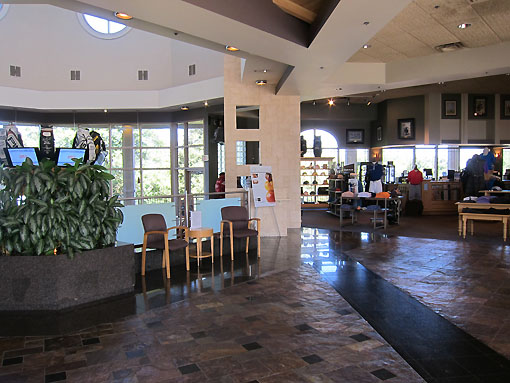 Inside the clubhouse at Champion's Gate