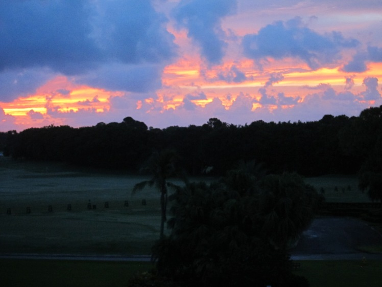 Beautiful sunrise at the PGA National