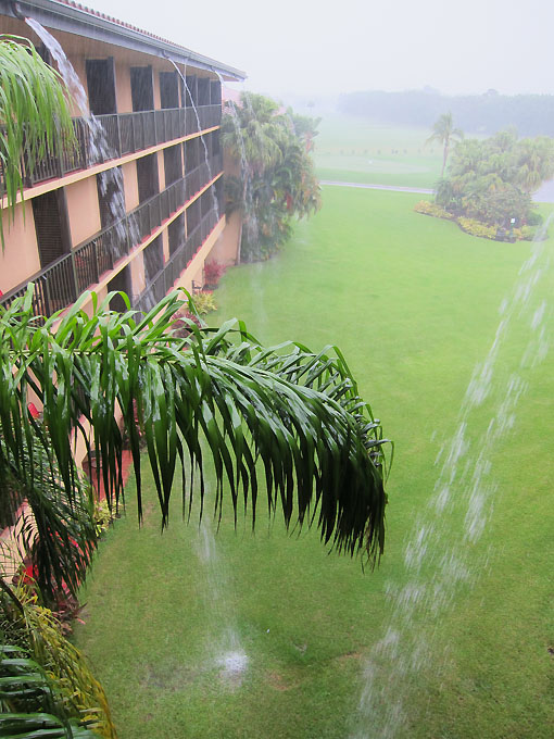 It is pouring like crazy here!