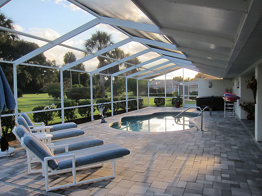 HUGE screened patio with pool