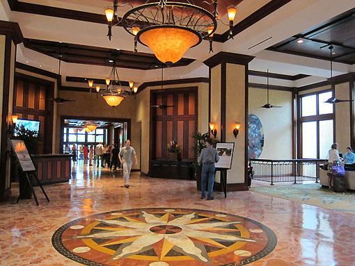 Lobby at the Hyatt