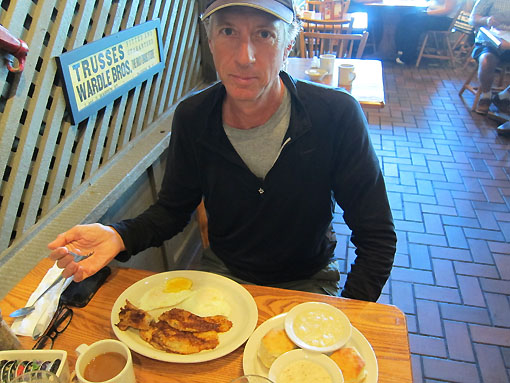 Rich chose catfish with his eggs!  It was outstanding.