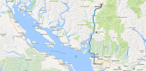 Richmond, BC to Whistler, BC - Google Maps-1
